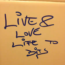 Writing Found On The Bathroom Wall Of Public Toilet