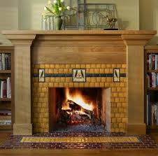 Arts And Craft Style Home by Standout Fireplace Tile Arts Crafts Style