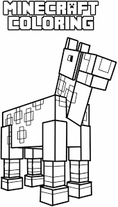 Animal Giraffe Minecraft Coloring Pages