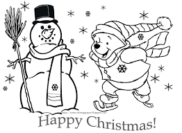 Pooh Disney Christmas Coloring Pages