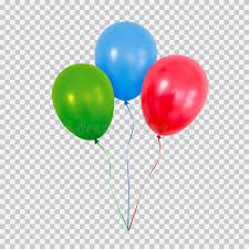 Download Red Green And Blue Helium Balloons Set Isolated Transparent Background Stock Vector