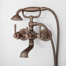 Brushed Bronze Tub Faucet by Wall Mounted Tub Faucets Signature Hardware