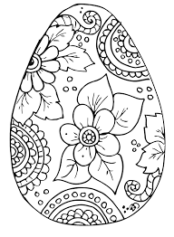 Coloring Page Eggs Pages Color Easter Egg Printable For Kids Butterfly