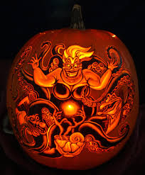 Mermaid Pumpkin Pattern by Terrific Disney Villains Pumpkin Carvings Pumpkin Carving