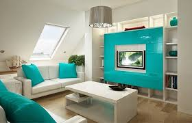 Bold And Bright Small Living Room Design