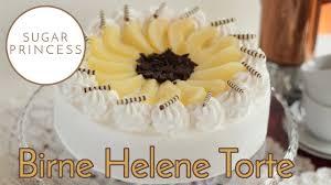 traumhafte birne helene torte mit schokocreme birnen und biskuitboden rezept sugarprincess