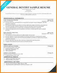 11 General Dentist Resume Quick Askips