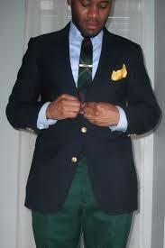 navy blazer with gold buttons vintage dope dealer
