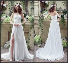 cheap long chiffon wedding dresses 2016 boho sweetheart bride