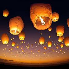 10 Sky Lanterns White Paper Lantern Lamps Amazon