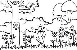 Gardens Coloring Pages