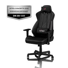 NITRO CONCEPTS S300 EX Gaming Chair - Carbon Black - Office Chair -  Ergonomic - PU Leather - Up To 300 Lbs Users - 90° To 135° Reclinable - ... Nitro Concepts S300 Ex Gaming Chair Stealth Black Chair Akracing Core Redblack Conradcom Thunder X Gaming Chair 12 Black Red Arozzi Verona Pro V2 Premium Racing Style With High Backrest Recliner Swivel Tilt Rocker And Seat Height Adjustment Lumbar Akracing Series Blue Core Series Blackred Cougar Armour One Best 2019 Coolest Gadgets