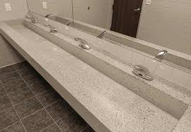 Trough Bathroom Sink With Two Faucets Canada by Commercial Trough Bathroom Sinks Custom And Standard By Eko