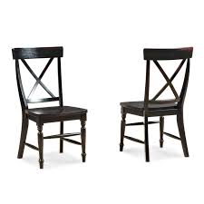 Generic Imagio Home Roanoke X-back Dining Side Chairs, Set Of 2, Rubbed  Black