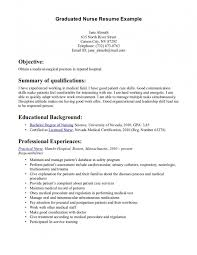 Graduate Rn Resume Objective by Alluring Graduate Rn Resume Objective For Your Sle Nursing