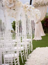 Luxury Wedding Ceremony Aisle Decoration