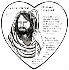 Holiday Coloring Pages Jesus The Good Shepherd Serendipity Hollow