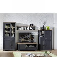 wohnwand graphit artisan eiche anbauwand tv wohnlösung wohnzimmer