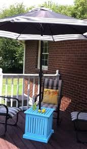 DIY Patio Umbrella Stand Side Table yard Pinterest