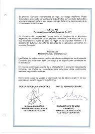 CONVENIO DE COOPERACiÓN CULTURAL ENTRE LA REPÚBLICA ARGENTINA EL