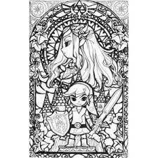 Awesome Stained Glass Zelda Coloring Page Kids