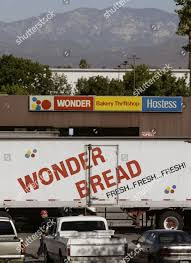 100 Wonder Bread Truck Delivery Truck Waits Bakery Pomona Editorial Stock
