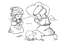 Child Praying Coloring Page In