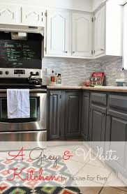Tiny Kitchen Ideas On A Budget by Remodelaholic Grey And White Kitchen Makeover