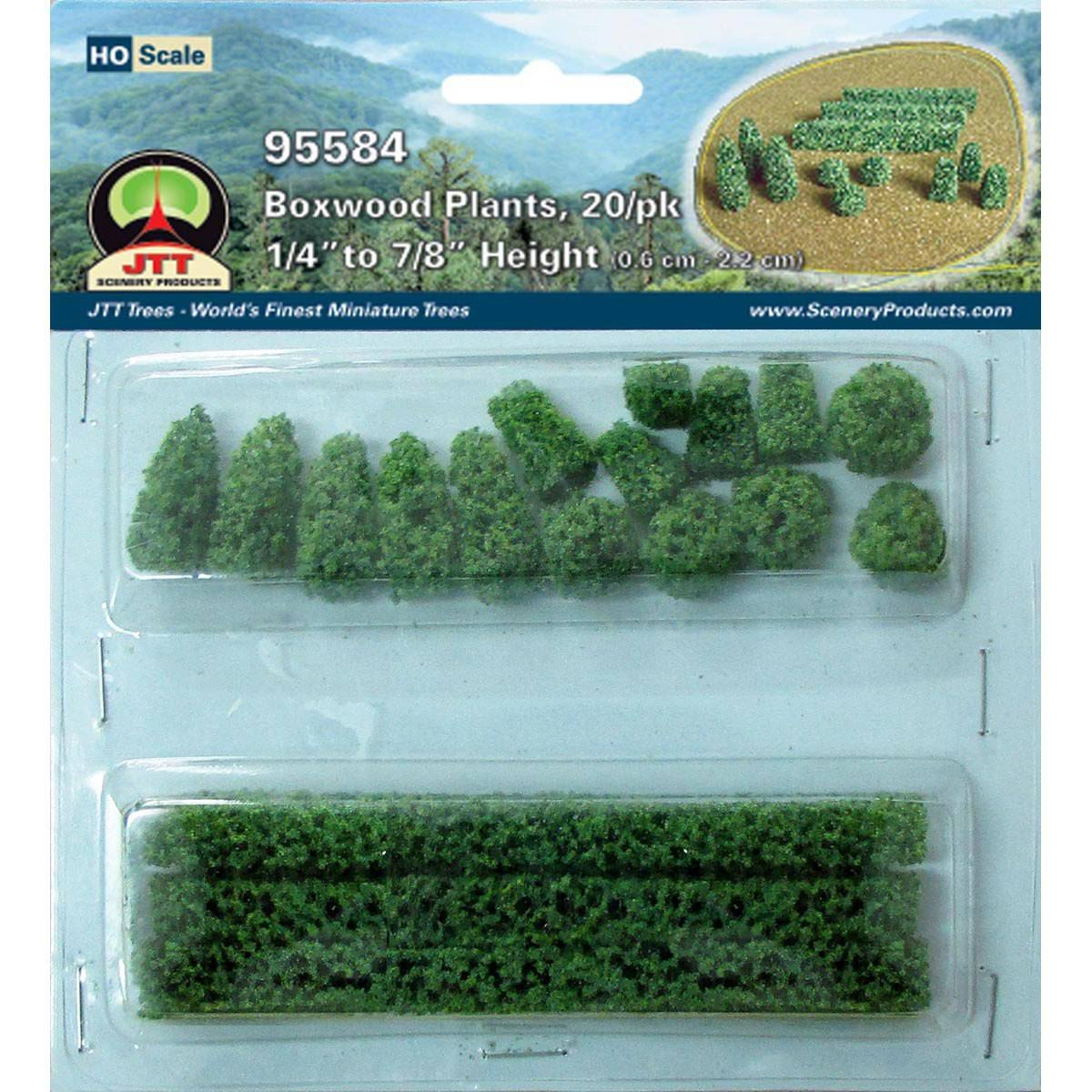 JTT Model Rail HO Scale Green Boxwood Hedge Plants Scenery