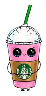 How To Draw A Starbucks Frappuccino Cute Step By Cartoon