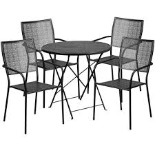 30'' Round Indoor-Outdoor Steel Folding Patio Table Set With 4 Square Back  Chairs: Gold Portable Char Foldng Campng Beach Outdoor Pato Lawn Photo Of Folding Patio Chairs Plastic Cosco Products Sco Living All Steel 3piece Pnic Time Pink Sports Chair With Stripes With Table Attached Refurbished Repurposed Materials 10 The Black And White Wedding Reception Dinner Table Setup Chaise Lounge Elastic Headrests Included Set Zero Gravity W 2 Cup Holders Uv Resistant Recling Padded Ideas Dectable Wood And Wooden Foldable Mainstays Sand Dune Tan Walmartcom Vintage Mid Century Modern Slats