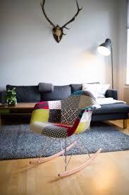 patchwork schaukelstuhl ähnlich rocking chair eames dsw