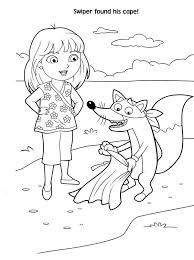 Free Printable Dora Christmas Coloring Pages