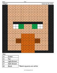 Minecraft Watch Coloring Pages Villager