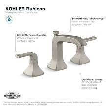 Brushed Nickel Bathroom Faucets Cleaning by Kohler Rubicon 8 In Widespread 2 Handle Bathroom Faucet In