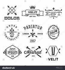 S Design Vintage Arrow Logo Vector Stock Labels Globe Crown Gear