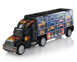 100 Trucks For Girls Toy Truck Transport Car Carrier 2Sided Includes 6 Toy Cars And