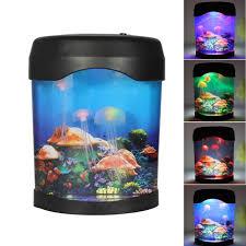 colorful aquarium l led jellyfish fish tank sea world night
