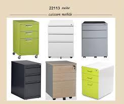 caisson metallique de bureau caisson bureau metal alinea blanc laqué discount classeur à tiroir