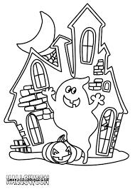 coloriage maison hantée à imprimer
