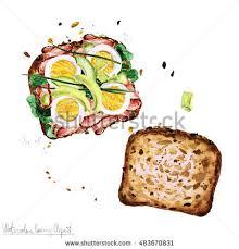 Watercolor Food Clipart Sandwich