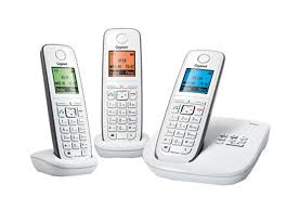 téléphone sans fil gigaset a230 duo bleu blanc