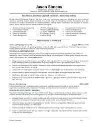 Industrial Design Resume Examples Sample For An Engineer Format Samples