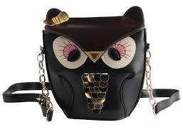cute black brown owl bag coin purse handbags amazon com