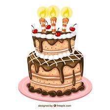Birthday cake illustration Free Vector 1710