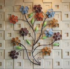 Metal Floral Wall Decor Modern Home Decoration Creative Art Hand Made Colorful Flowers Flower Hobby Lobby