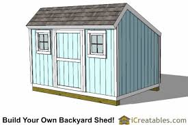 10x14 Garden Shed Plans by Saltbox Shed Plans Build Your Own Backyard Storage Shed