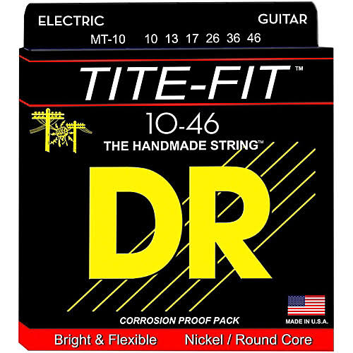 Dr Strings Tite Fit MT Tite Nickel Plated Electric Guitar Strings - 10 Medium Strings