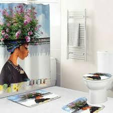 badezimmer set rutschfest podest teppich toilettensitz deckel badematte dusche