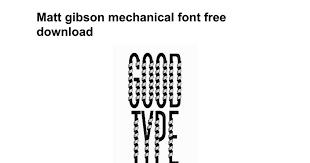 bureau steunk matt gibson mechanical font free docs
